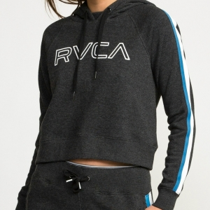"RVCA ""VA GUARD FLEECE HOODIE"" Női kapucnis pulóver – Fekete"