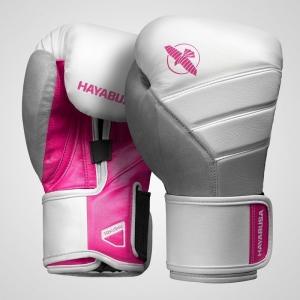 Hayabusa T3 Boxing Gloves – Boxkesztyű – Fehér / Pink