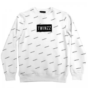 TWINZZ PINELLI FLEECE CREWNECK SWEATSHIRT – Pulóver – Fehér / Fekete